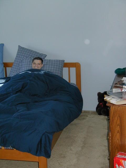 Dan Golding sleeps in