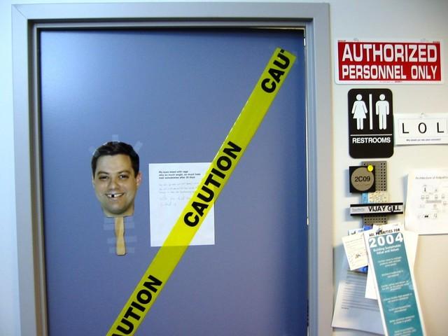Vijays office door