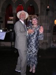 Uncle Tom and Aunt Nancy strike a pose in the Great Hall