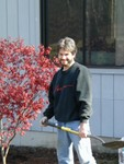 Joe with our new bloodgood maple tree