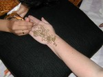 Highlight for Album: mehndi henna hands