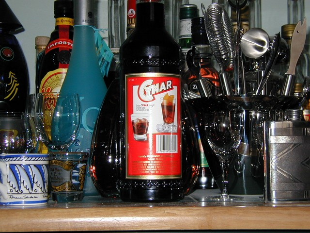Cynar back label