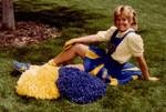Ren as a cheerleader in 1984