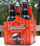 4-pack of Stewart's root beer
