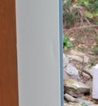 left door - right side long indent