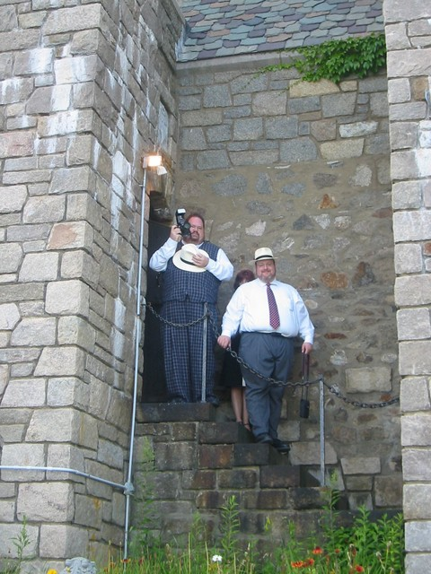 DougH and RS coming down the back stairs