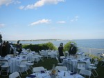 tables set for lobster fest