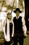 Andrea and Peter in Sepia