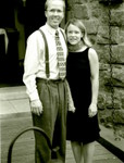 Eric and Sarah Bell on the drawbridge