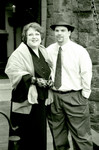 Sue and Jim Sibley at the drawbridge