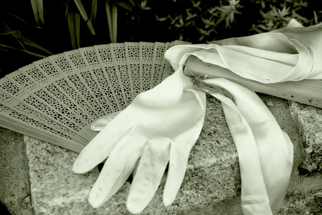 Silk gloves and fans