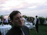 Jon Hartford pauses to reflect at dusk