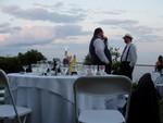 happy table at dusk